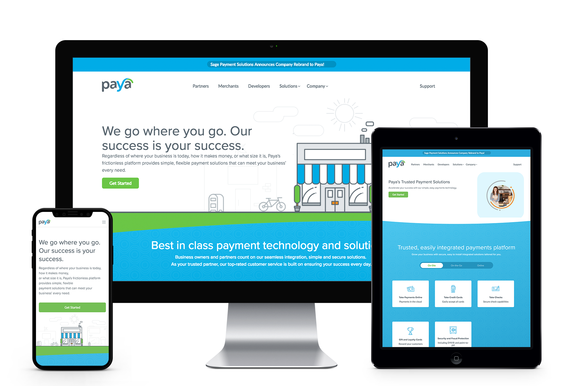 Paya Website in a Variety of Devices