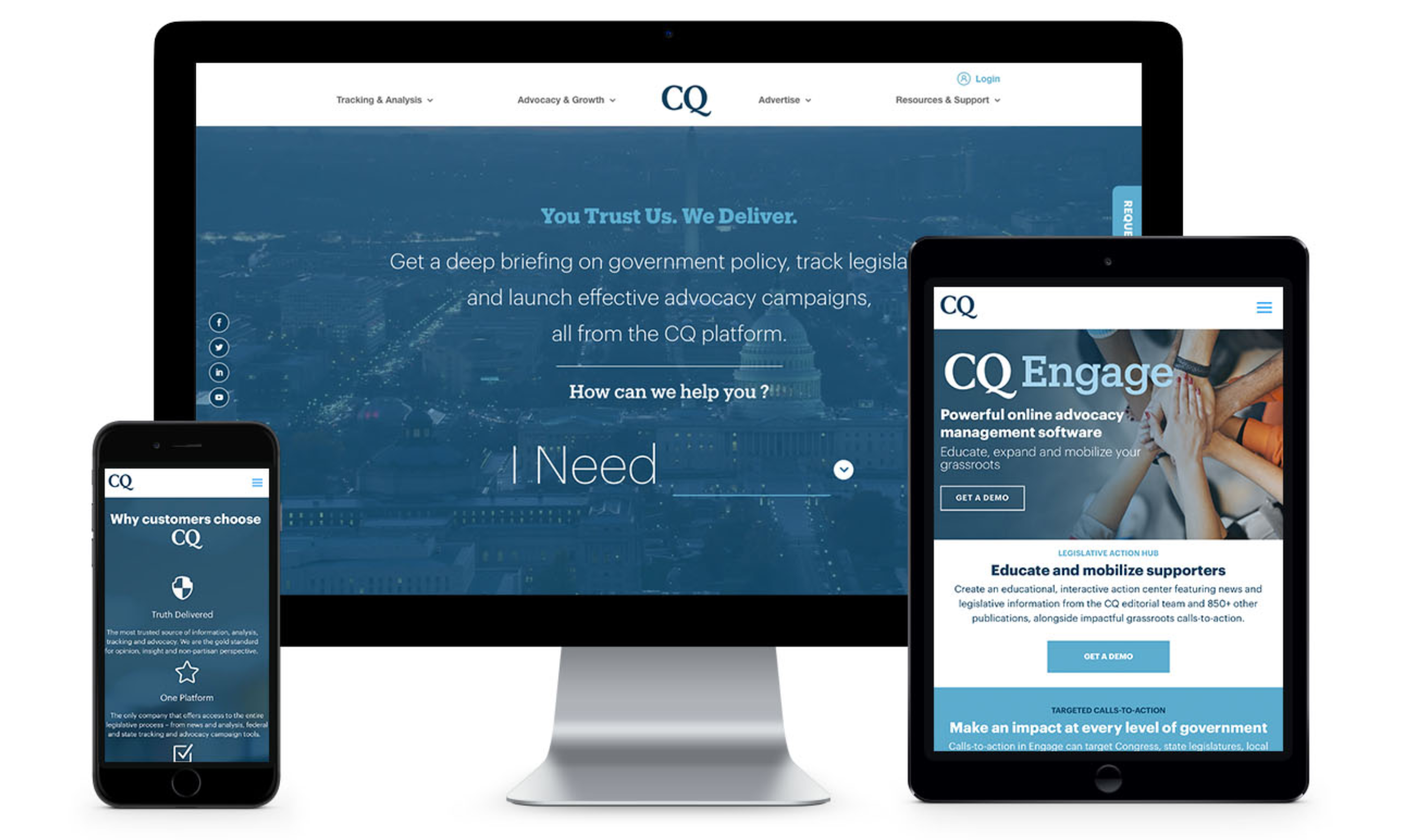 CQ Roll Call and Fiscal Note – Two Bluetext Rebrand Clients